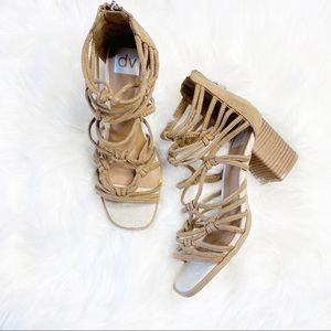 DV by Dolce Vita Cages Block Heel Sandal Size 7.5